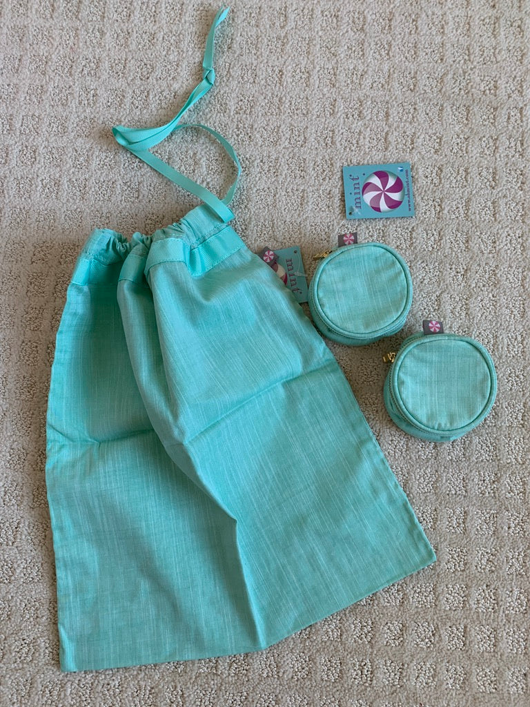 Mermaid Chambray Travel items, by Mint, Sweet Little Things