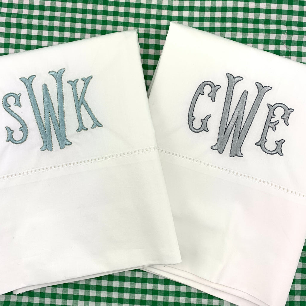 """Chris"" Percale Hemstitched Sheet Sets"