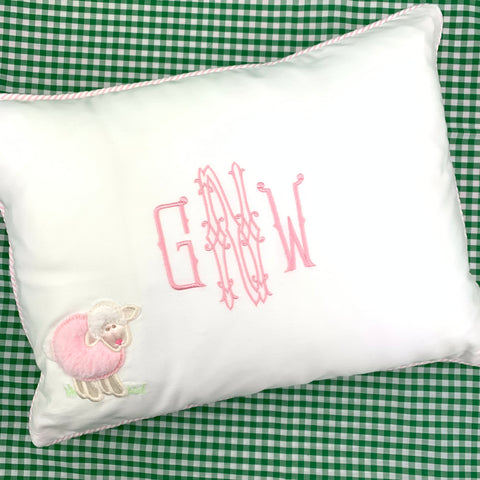 Lamb Baby Pillow, by 3Marthas.  (Two colors)
