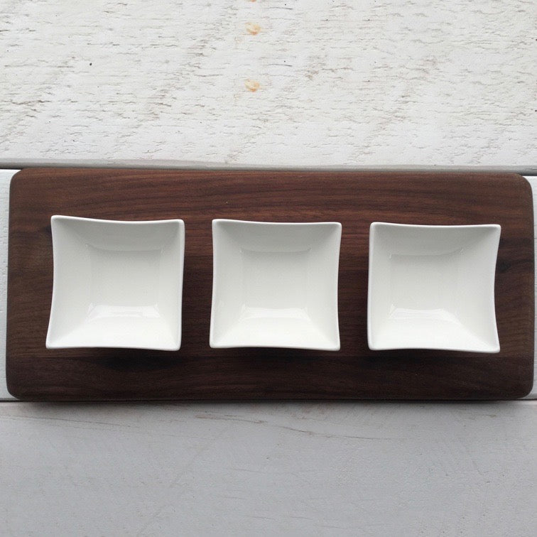 Large Dip Tray - Walnut. By 8fd Designs