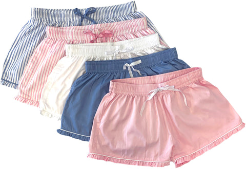 Ruffled Sleep Shorts (Various colors)