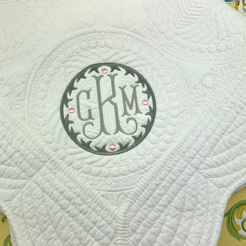 White Cotton Baby Quilt