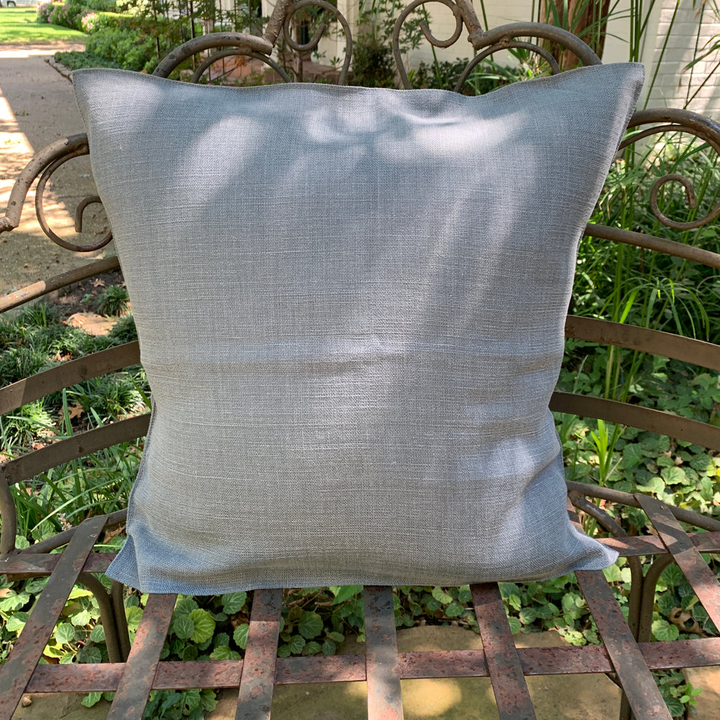 Steel Linen Pillow Cover by Libeco Linen