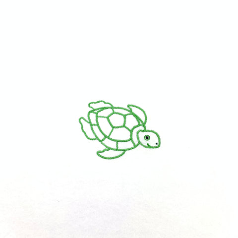 Sea Turtle Outline Mini Embroidery Design
