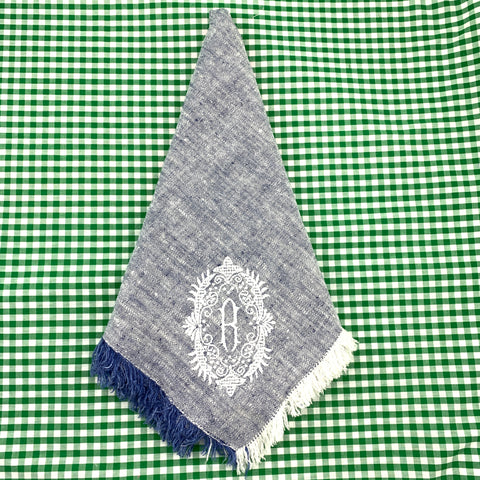 Linen Dinner Napkin with Frayed Edges (Various colors)