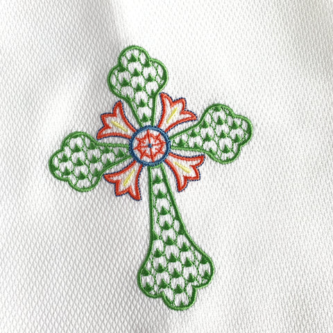Chic Cross Huck Hemstitched Guest Towel