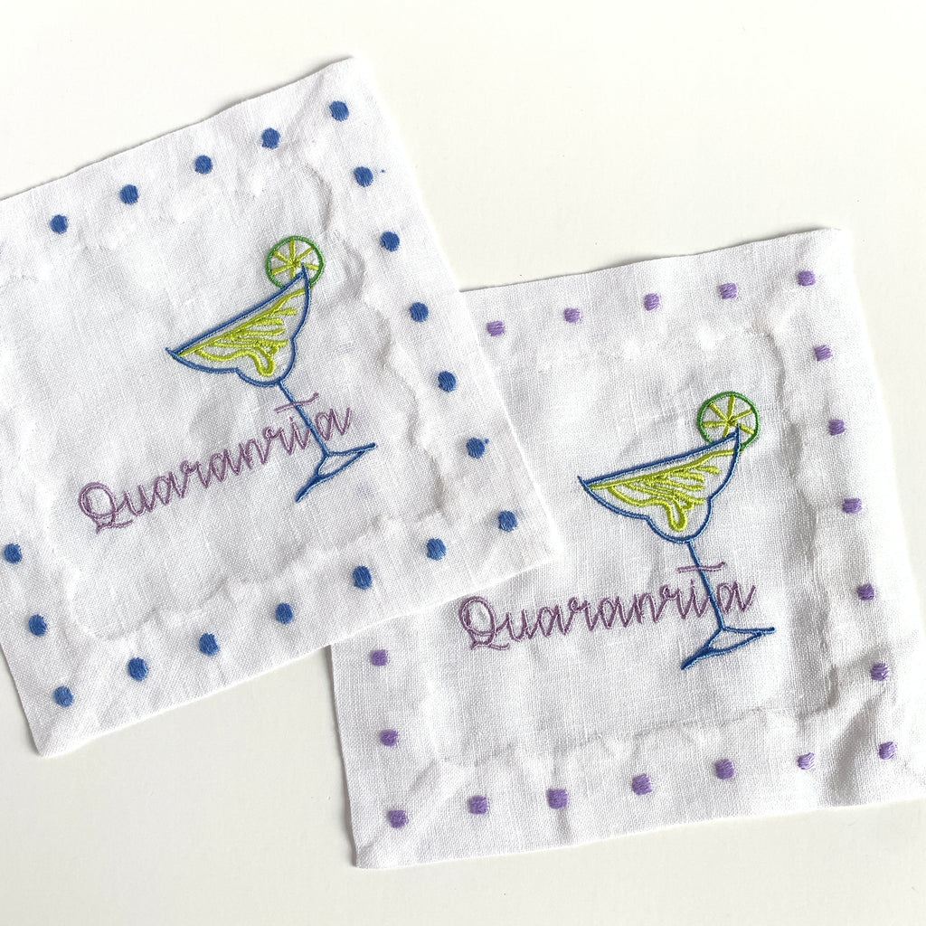 """Quaranrita"" Cocktail Napkins"