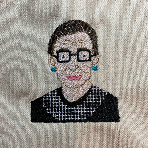 Ruth Bader Ginsburg Embroidery Design (RBG),Large, 5