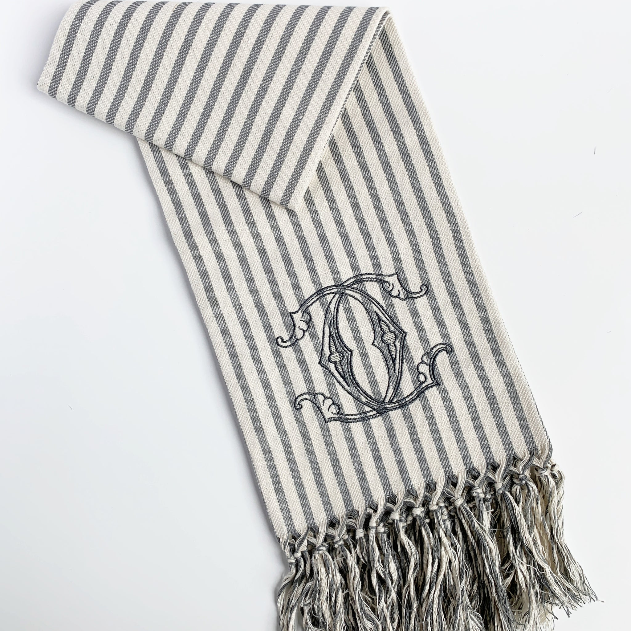 Melograno Striped Long Fringe