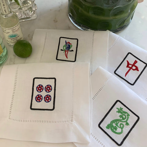 Mahjong Tiles Embroidery Designs