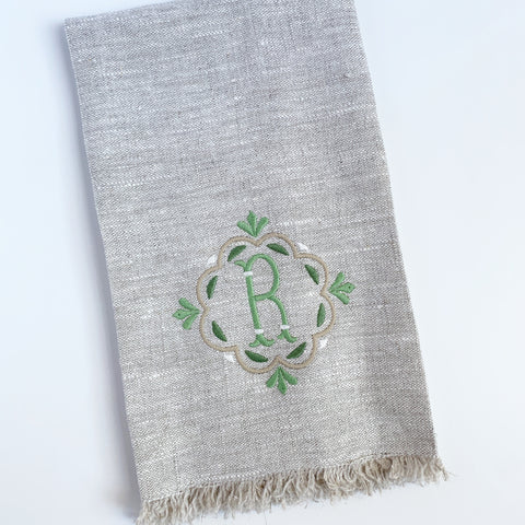 Linen Guest Towel with Frayed Edges (Two colors)