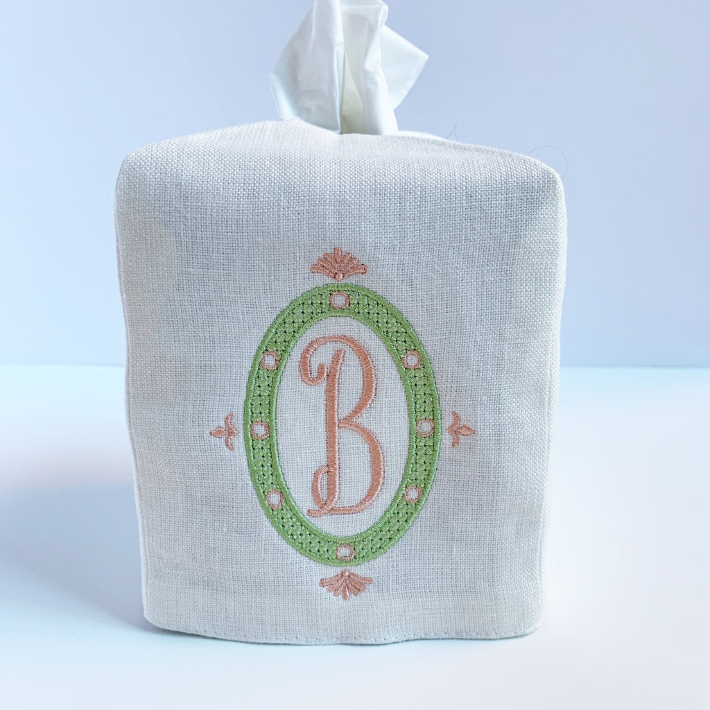 Double Layer Linen Tissue Box Cover (Three colors)