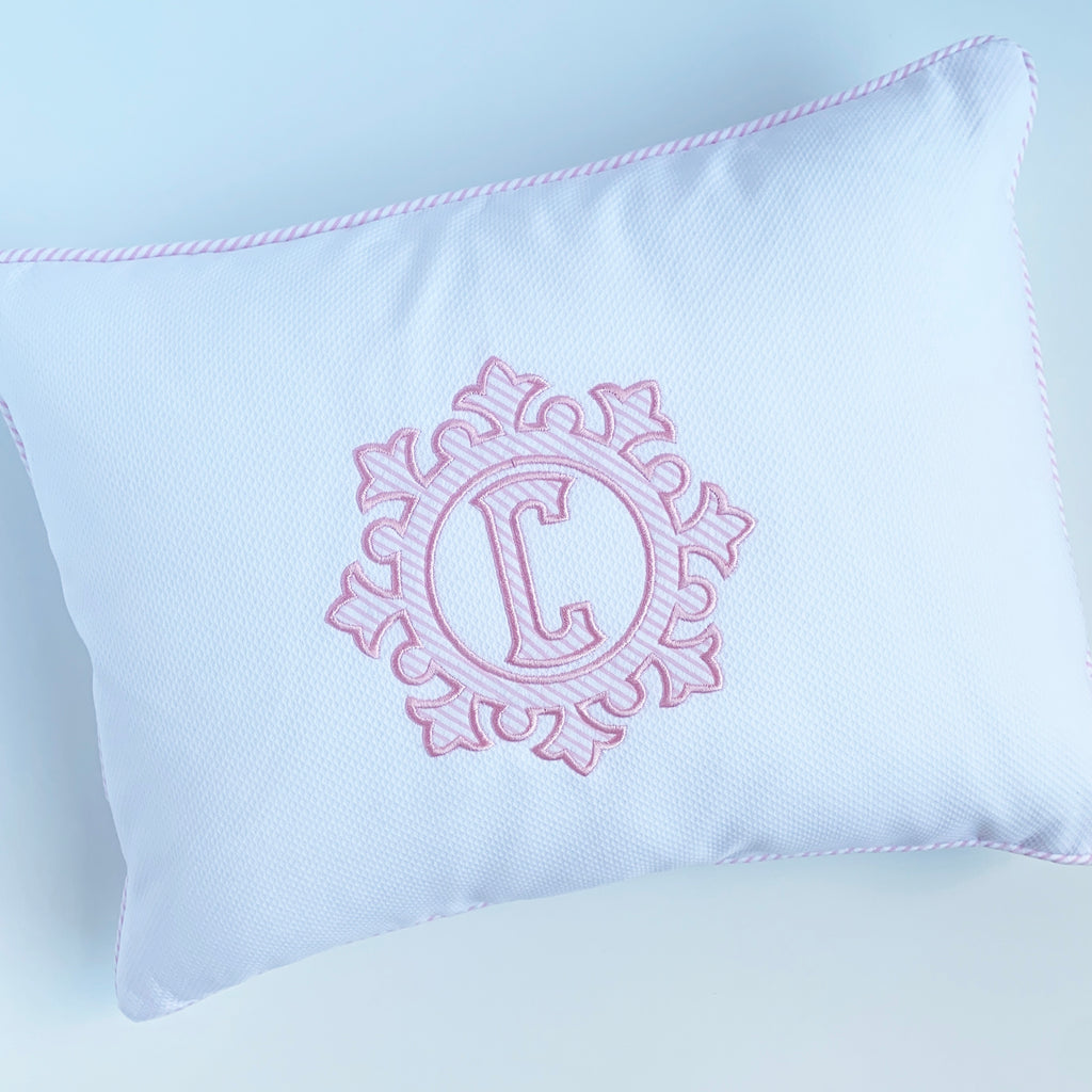Piqué Baby Pillow, by 3Marthas.  (Two colors)