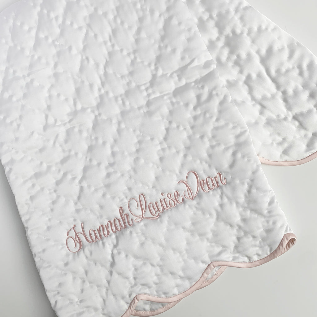 Quilted Satin Baby Blanket (Two colors)