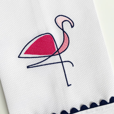 Abstract Flamingo Embroidery Design (4 sizes)