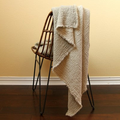 Stonewashed Expression Linen Throw