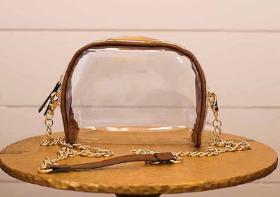Be Clear Collection Chain Bag, by mb greene