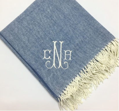 Chambray Herringbone Throw