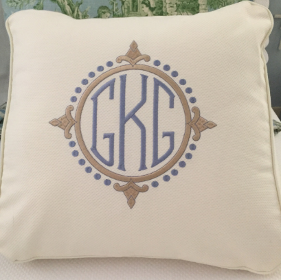 Ecru Wedge pillow