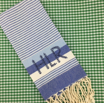 Striped Turkish Guest Towel