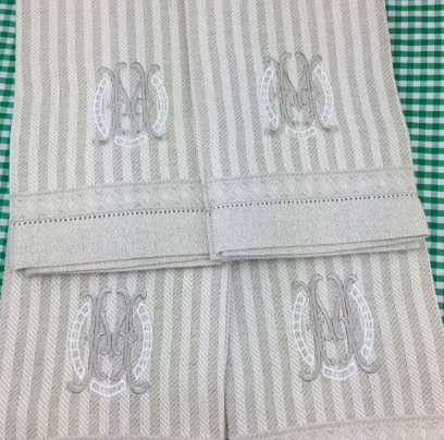 Italian Linen Guest Towel - Iris (Two colors)