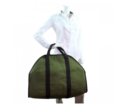 Large Canvas Log Carrier