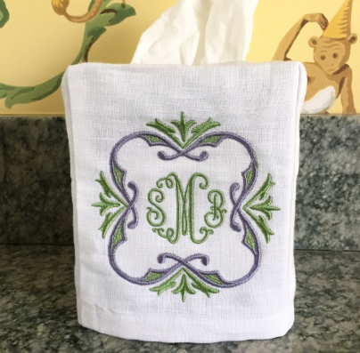 Linen Tissue Box Cover (Two colors)