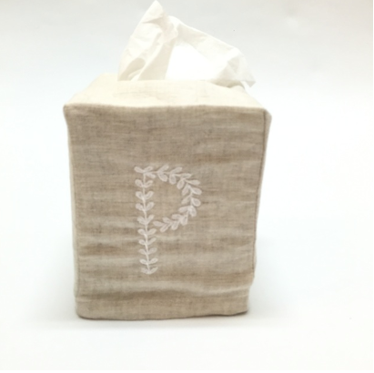 Natural Linen Tissue Box Cover