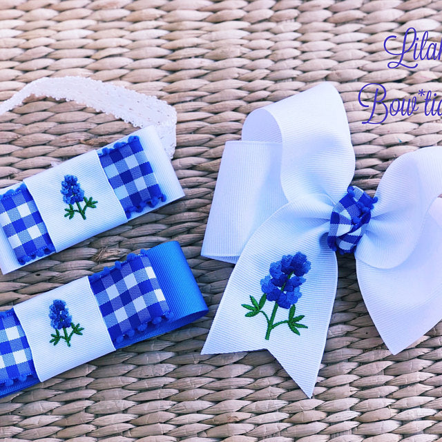 Mini Bluebonnet Embroidery Design