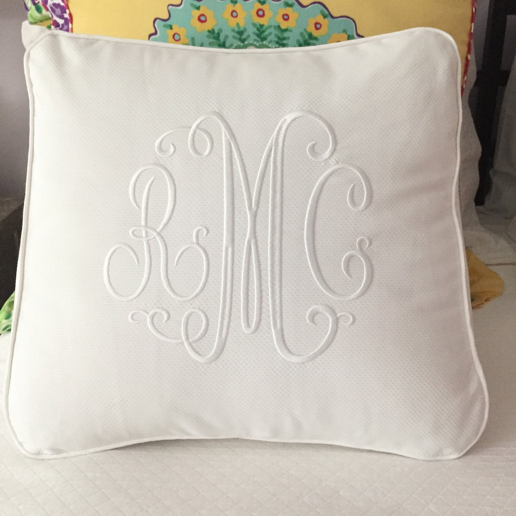 White Wedge pillow
