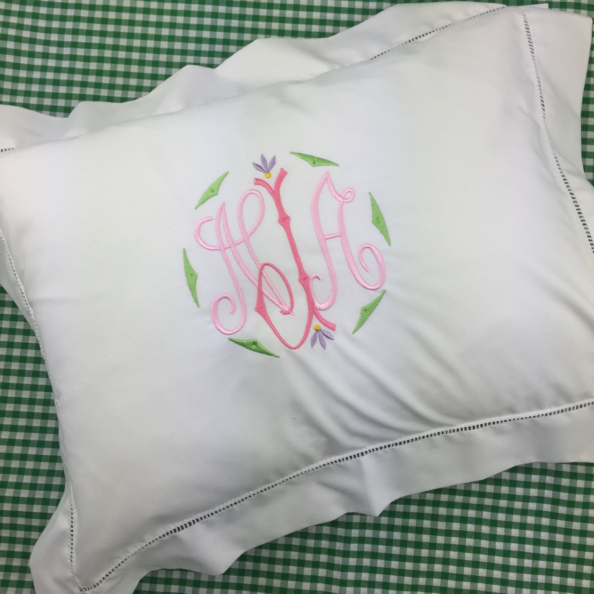 White Hemstitch Boudoir Pillow