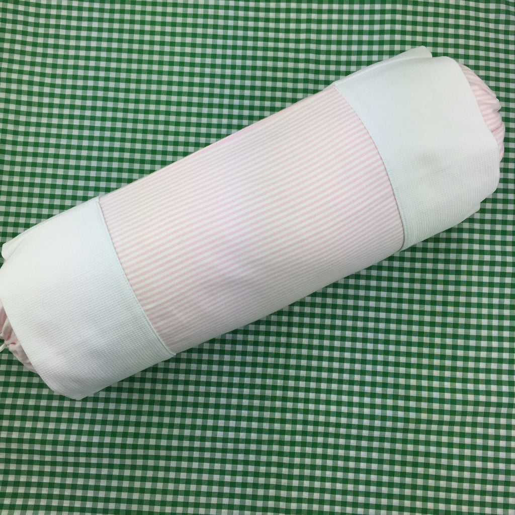 Pink Stripe Neck Roll Cover