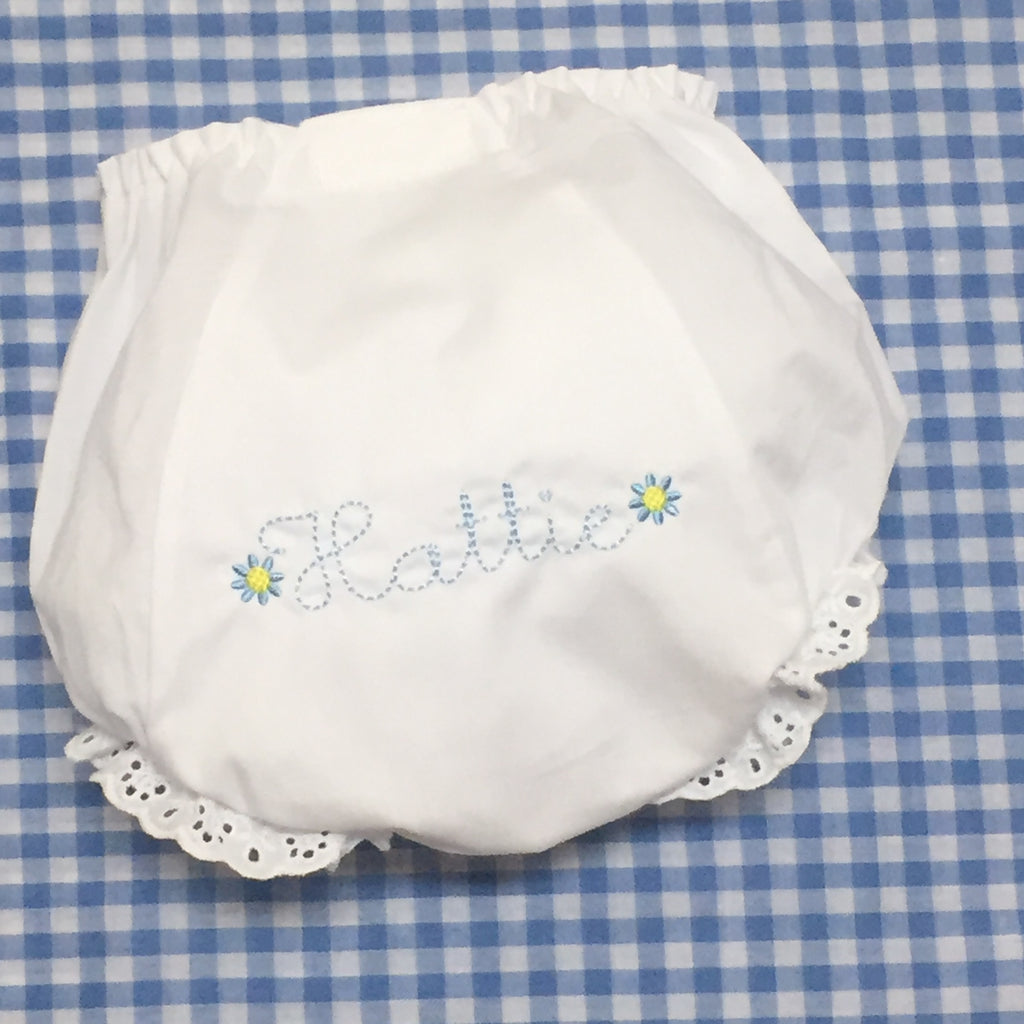 Maisy Bloomers with Daisies in pastel colors