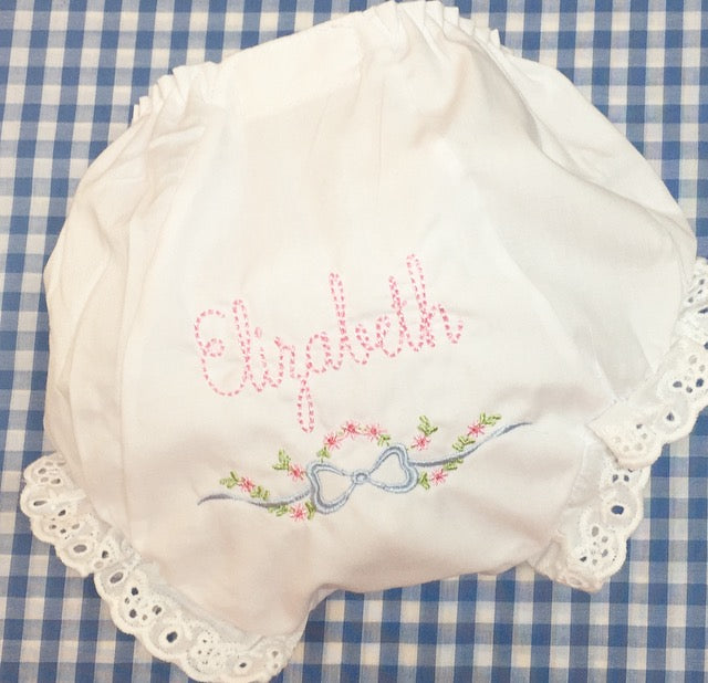 Maisy Bloomers with Cordelia motif in pastel colors
