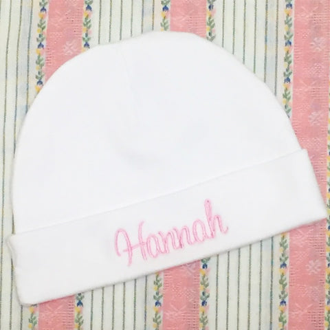 Cotton knit infant cap