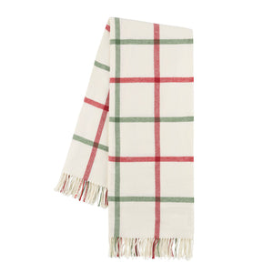 Holiday Tattersall Plaid Throw