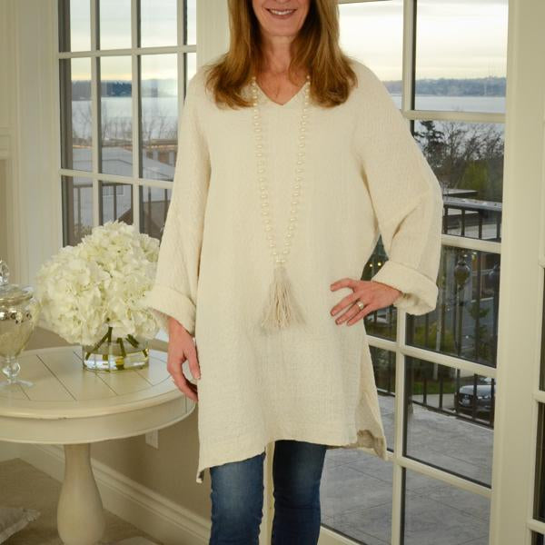 Riley Linen Tunic Sweater