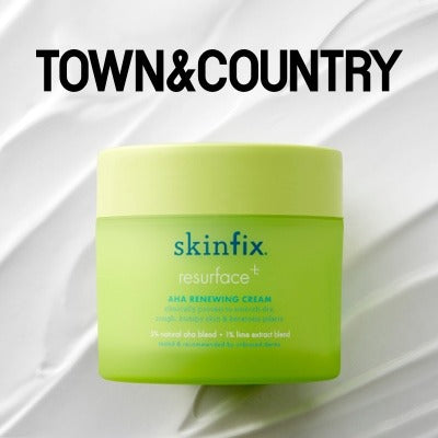 Town & Country Skinfix Resurface+ AHA Renewing Cream Press Feature