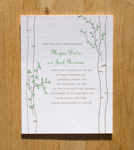 Birch Invitation
