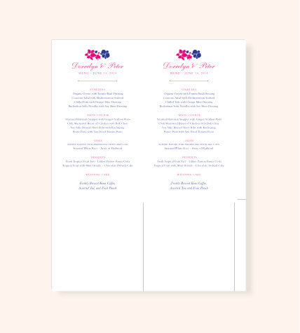 Printable Menu File in any Style