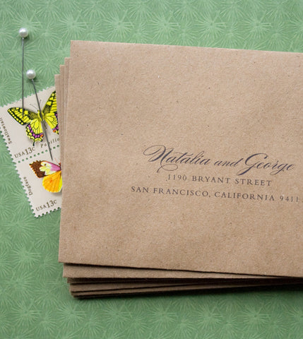 Brown Fiber Envelopes