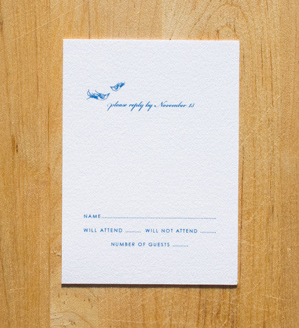 Love Birds RSVP Card