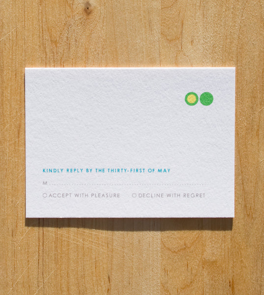Jolly Dots RSVP Card