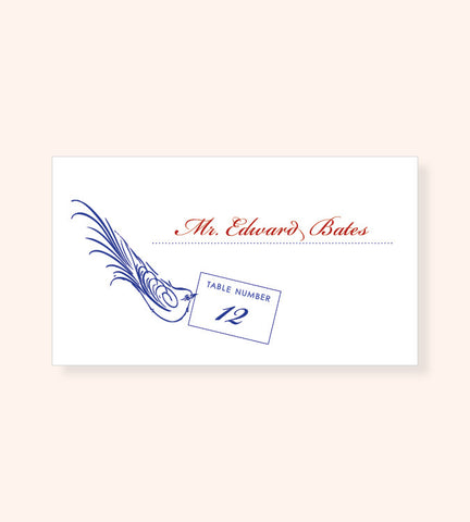 Love Birds Escort Card
