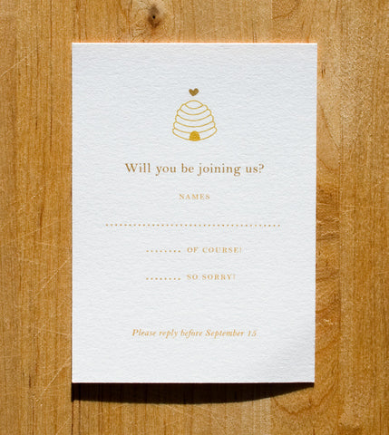 Love'n Honey RSVP Card
