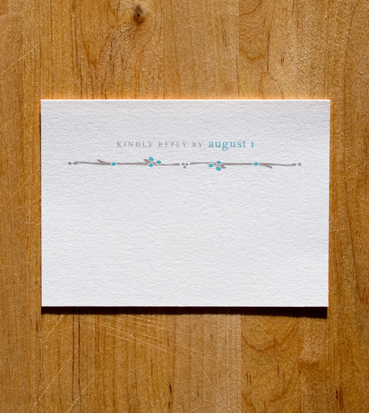 Cottage RSVP Card