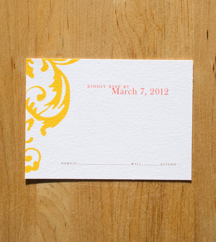 Flourish RSVP Card