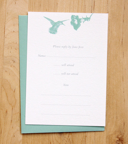 Hummingbirds RSVP Card