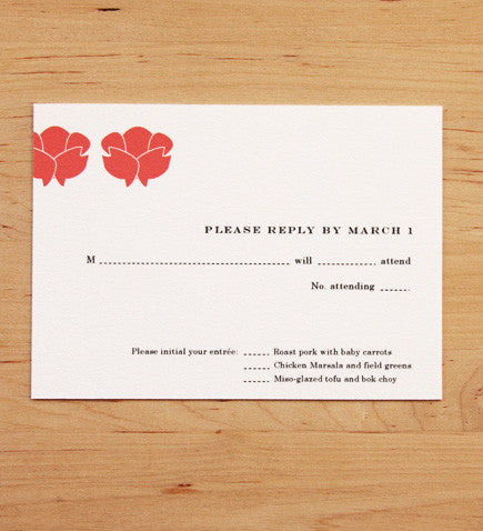 Rosebud Galaxy RSVP Card