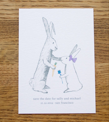 Bunny Love Save the Date